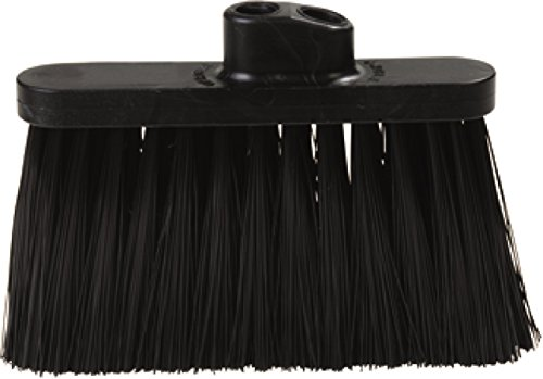Stiff Black Broom (Carlisle 3685403 Flo-Pac Duo Sweep Stiff Filament Light Industrial Broom Head, Polypropylene Bristles, 11
