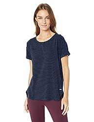 Amazon Essentials Women S Studio Relaxed Fit Lightweight Crewneck T Shirt Navy Stripe Small