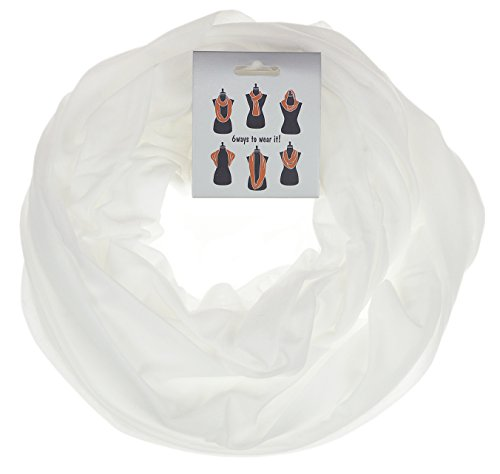 RufNTop Premium Stylish Soft Light Weight Infinity Loop Scarf(JERSEY WHITE OS)