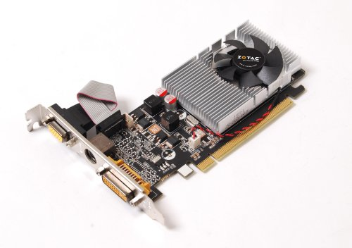 ZOTAC nVidia GeForce 8400GS TurboCache 512 MB DDR2 VGA/DVI/TV-out Low Profile PCI-Express Video Card (ZT-84SEH4P-FSL) -