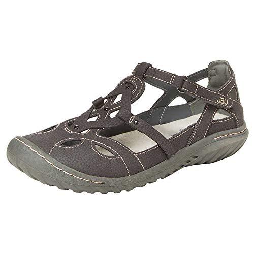 JBU by Jambu Ladies' Sydney Sandal/Flat Sandals for Women (8 M US, Charcoal/Gray) by JBU by Jambu