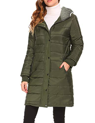 Misakia Women's Lightweight Packable Down Jacket Outwear Puffer Down Coats(Army Green L) by Misakia (Image #3)