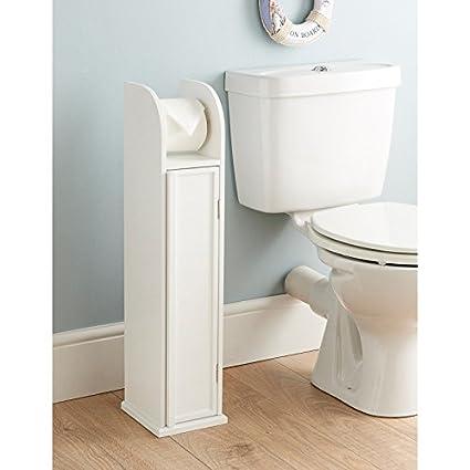 Mobiletto Porta Carta Igienica.Bianco In Legno Libera Installazione Mobiletto Per Bagno E Porta Rotolo Di Carta Igienica