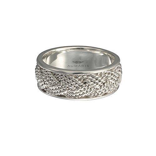 Amazon.com: 9mm Handmade 3 Strand Turks Head Silver Ring Wedding ...
