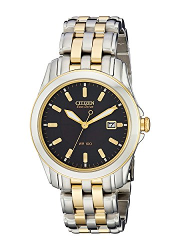 Eco Drive Two Bracelet Tone (Citizen Men's BM6734-55E Eco-Drive Two-Tone Stainless Steel Watch)
