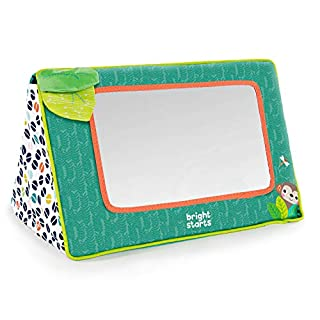 Ah, love at first sight. Who's caught baby's eye? Her own reflection, of course! Made for tummy time or sit-and-play, this large baby-safe mirror is perfect for silly faces and self-discovery. Watch as your wild one discovers her goofy grin for the f...