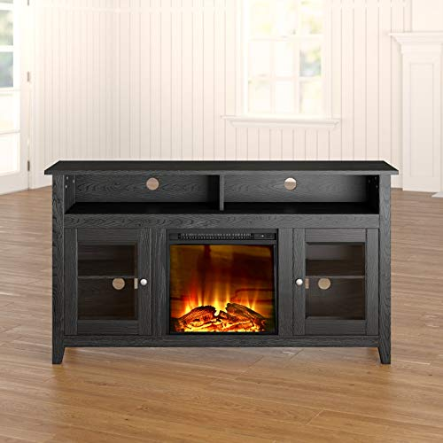 Cheap TV Stand with Electric Fireplace 65