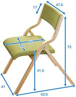 JHZY Chaise pliante en tissu pour la maison ou la salle à manger nordique pour adulte, chaise de bureau ou de restaurant.