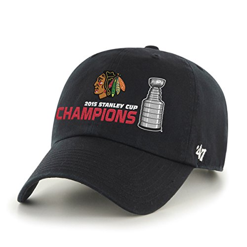 NHL Chicago Blackhawks Clean Up Adjustable Hat, Black, One Size – Sports Center Store