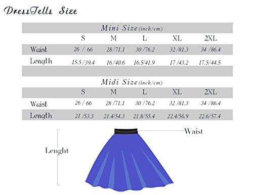 Dresstells Mini white Light Blue en Courte vase Jupe Polyester r4ZqAr