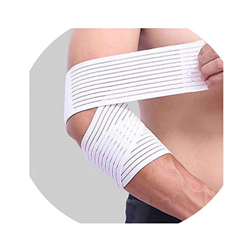 I Need-You 1PCS 707.5 cm Sport Wrist Ankle Arm Elbow Protector Support Breathable Elastic Bandage Basketball Badminton Tennis Sprain Guard,1 pcs White ()