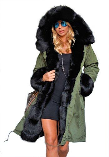 Roiii - Sudadera con capucha - Parka - para mujer Amry Verde