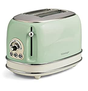 Ariete 155 - Tostador Vintage para pan con 2 ranuras, color verde