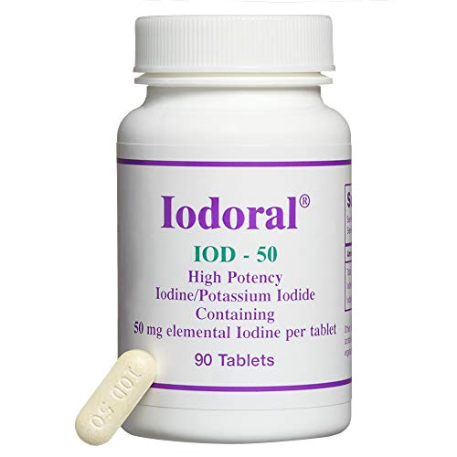 (Optimox - Iodoral IOD-50, High Potency Thyroid Support with Iodine, Iodide, and Potassium, 90 Tablets)