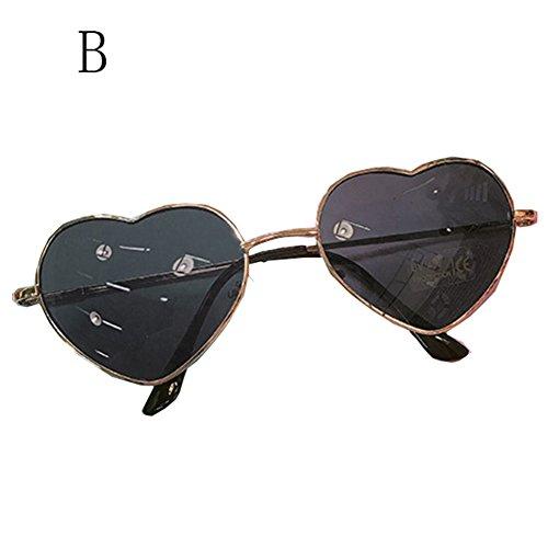 Cool Lunettes De Personnalité Couleur de B air des E Summer FZG Peach Lunettes De Sunglasses Soleil Heart de Dégradé Soleil Retro Plein q7A8O0