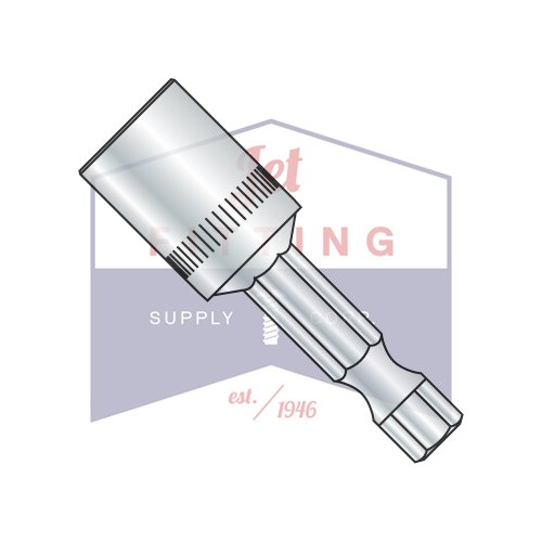 OKSLO Jet Fitting & Supply Corp 5/16 x 1 5/8 Magnetic Power Nutsetter Bit (Quantity: - Nutsetter Power Bit
