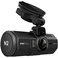 [UPGRADED] Vantrue N2 Dual Dash Cam-1080P Front and Rear Dual Lens Car Camera 1.5' Near 360° Wide Angle Dashboard Car DVR Video Recorder w/ Parking Mode, Front Camera Night Vision Effects
