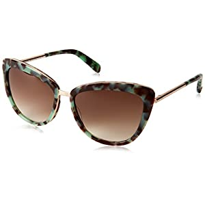 Kate Spade Women's Kandi Cateye Sunglasses, Mint Tortoise & Brown Gradient, 56 mm