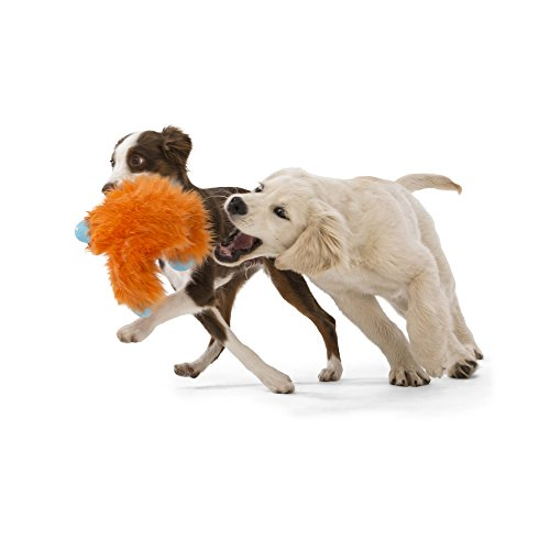 Image of West Paw Rowdies with HardyTex and Zogoflex, Durable Plush Dog Toy for Medium to Large Dogs, Jefferson, Orange Fur