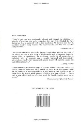 Calvin: Institutes of the Christian Religion (2 Volume Set)