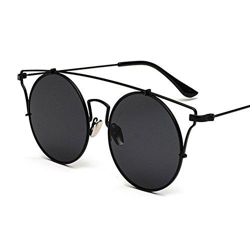 Aoligei Personnalité ronde lunettes de soleil femme lunettes de soleil tendance lunettes de clap décor soleil lunettes végétarien Yan Street yyPOf
