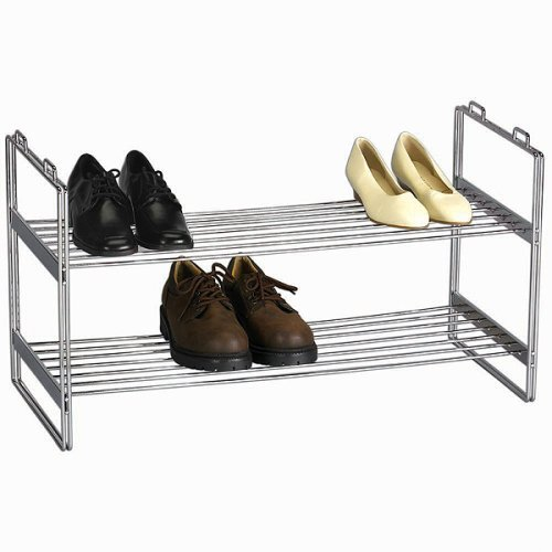 Household Essentials Stackable Two Tier Chrome