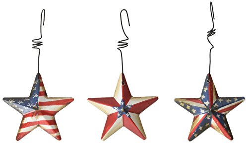 Patriotic Dimensional Tin Star Miniature 2