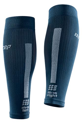 CEP Women's Compression Run Sleeves Calf Sleeves 3.0, Blue/Grey II by CEP (Image #3)