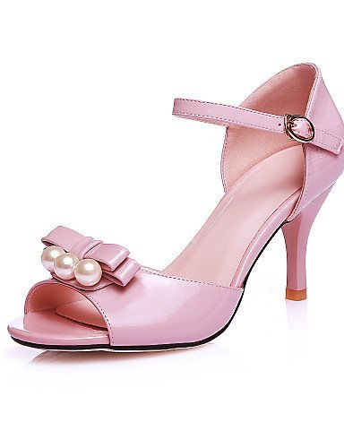 ShangYi Womens Shoes Stiletto Heel Peep Toe Sandals Party & Evening / Dress Pink / Red / White Pink