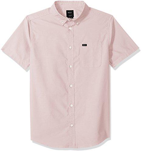 RVCA Men's Thatll DO Oxford Short Sleeve Woven Shirt, Gum, XS