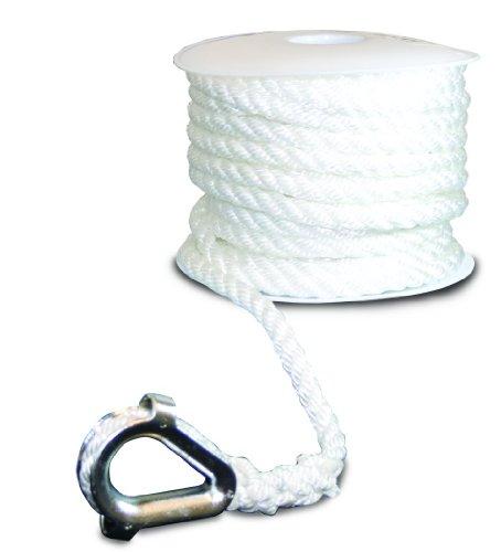 SeaSense Anchor Nylon Line Twist, 1/2-Inch X - Nylon Rope Strand 3 Twist