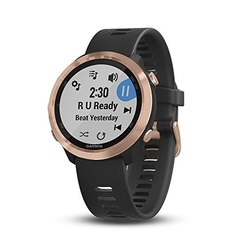 - Garmin Forerunner 645 Music, GPS Running Watch with Garmin Pay Contactless Payments, Wrist-Based Heart Rate and Music, Rose Gold