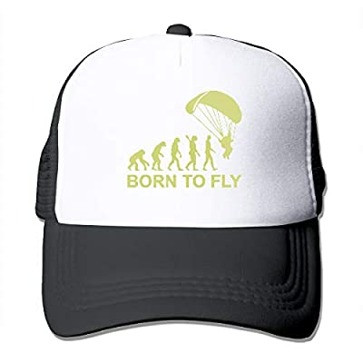 Unisex Trucker Hat Evolution Skydiving Born to Fly3 Women Adjustable Mesh Cap Newest Cricket Cap