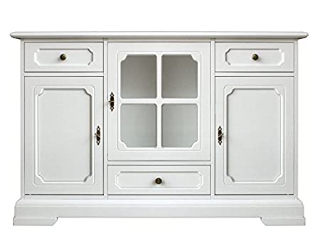 Dining Room Cupboard Wooden Sideboard For Living White Wood Cabinet 3 Doors