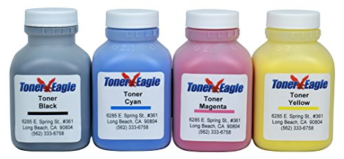 HP Pro 300 M351 M375 400 M451 M475 4-Color Toner Refill Kit with HM Tool and Chips. By Toner Eagle