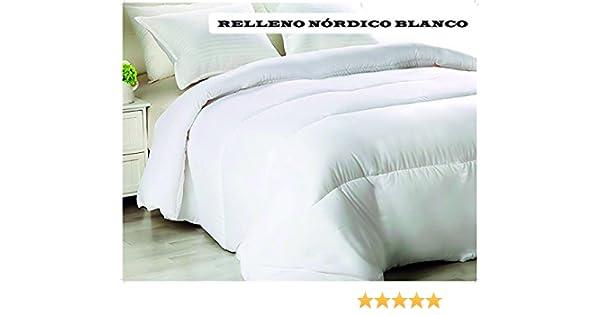 ForenTex - Relleno nórdico de 200 g, (RL-200 Blanco), para Cama de ...