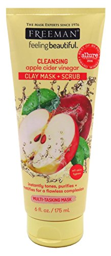 Freeman Facial Apple Cider Vinegar Clay Mask + Scrub 6 Ounce (177ml)