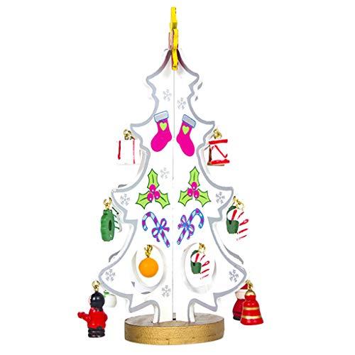 Colorzonesd Mini Christmas Tree Santa Claus Snowman