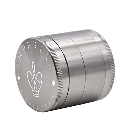 All-New Herb Grinder 100% Stainless Steel 4-Piece Design with Pollen Catcher by Imperial Collectio (Stainless Steel Mill Herb)