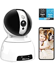 Security Camera,Vimtag Wireless Home Security Camera 1080P Pan/Tilt/Zoom WiFi Home Indoor Smart Camera for Baby/Pet Motion Detection,2 Way Audio/ Night Vision/Compatible with Alexa,Support SD Card and Cloud Storage