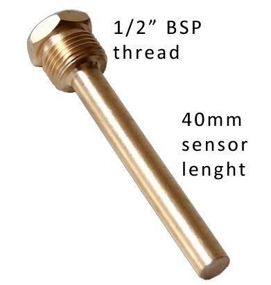 Sonde de composition solide m/étallique industrielle de temp/érature de la jauge thermom/ètre /à entr/ée arri/ère 1//2