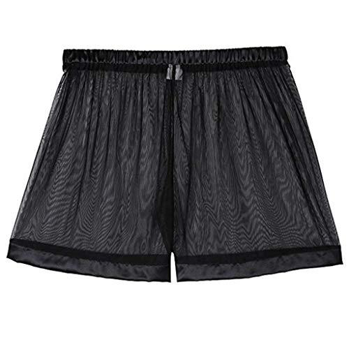 - YiZYiF Men's Loose See Through Gauze Pants Lingerie Breathable Underwear Black X-Large