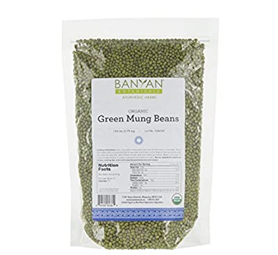 Banyan Botanicals Green Mung Beans - USDA Organic - Non GMO - For Soups, Sprouts, & Easy Digestion - Ayurveda from Banyan Botanicals
