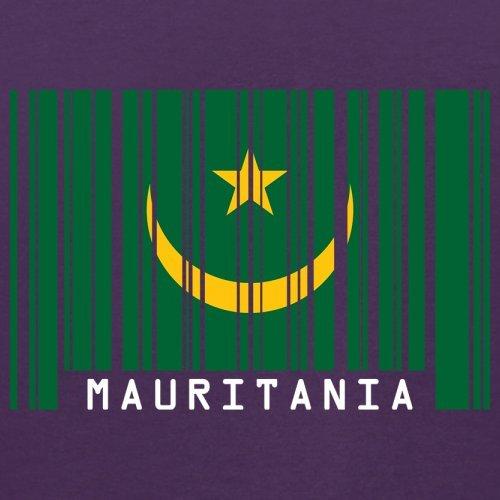 Mauritania / Mauretanien Barcode Flagge - Herren T-Shirt - Lila - XS