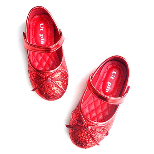 Nova Utopia Toddler Little Girls Ballet Flat Shoes,NF Utopia Girl NFGF312N2 Red 9]()