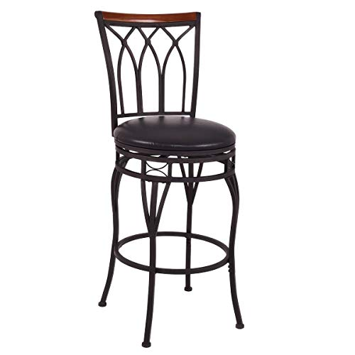 "AK Energy Office Reception Counter 24"" or 28"" Vintage Adjustable Height Swivel Bar Stool Padded Seat Bistro Pub Chair"
