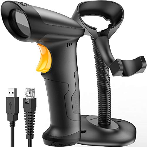 (Inateck 1D USB Barcode Scanner with Intelligent Stand Wired, BCST-33)