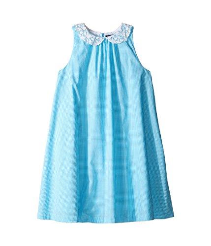 Ralph Lauren Polo Girls Lace Collar Poplin Gingham Dress (Youth 10 - Party Poplin Dress
