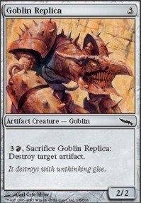 Magic: the Gathering - Goblin Replica - Mirrodin - Foil (Foil Replica)