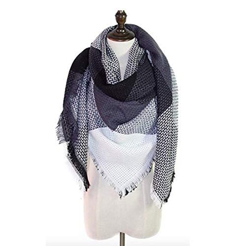 Neck Shawl (Women's Cozy Tartan Scarf Wrap Shawl Neck Stole Warm Plaid Checked Pashmina (2))